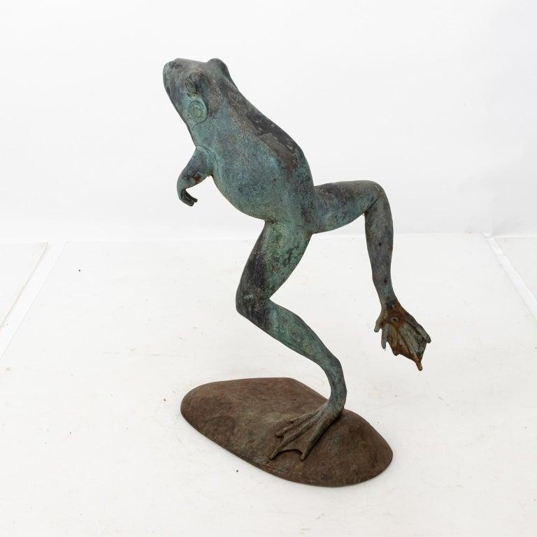 Contemporary Bronze Frog Fountain 2