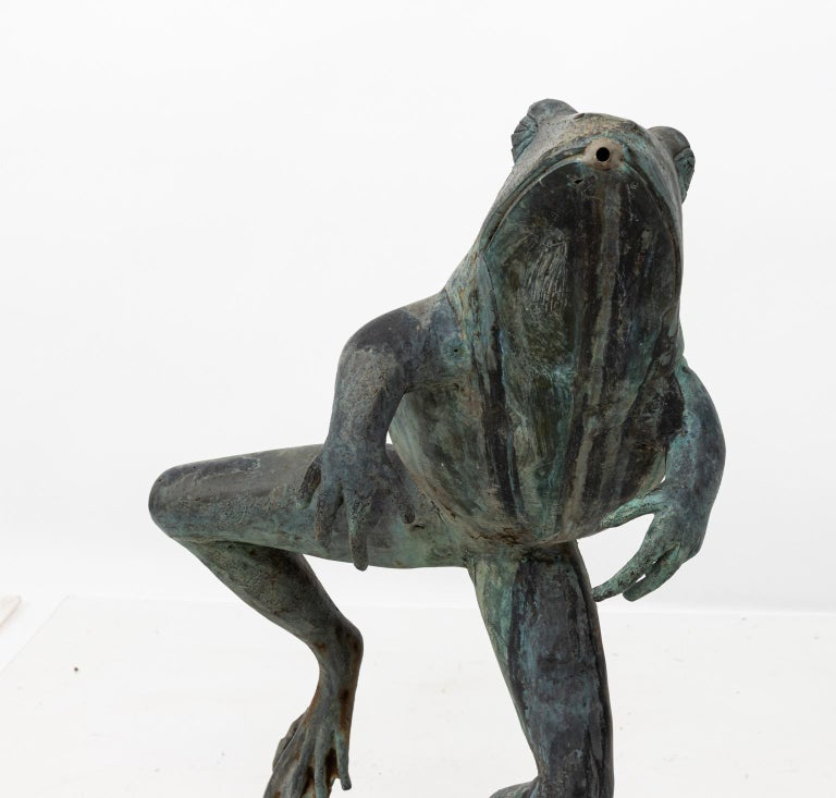 Contemporary Bronze Frog Fountain 4
