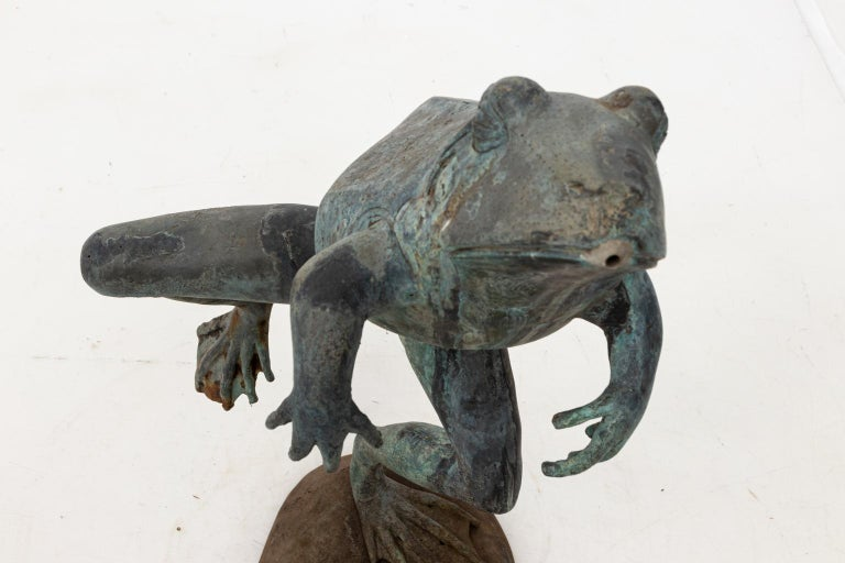 Contemporary Bronze Frog Fountain 5