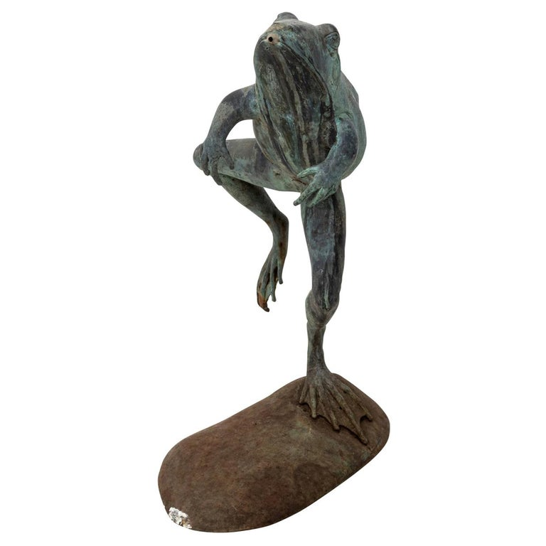 Contemporary Bronze Frog Fountain