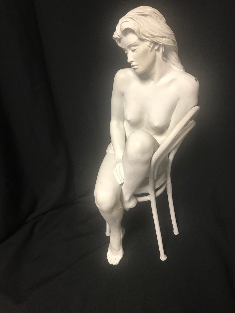 Contemporary Bronze of Nude, 'Solitude', Bill Mack In Good Condition For Sale In Cypress, CA
