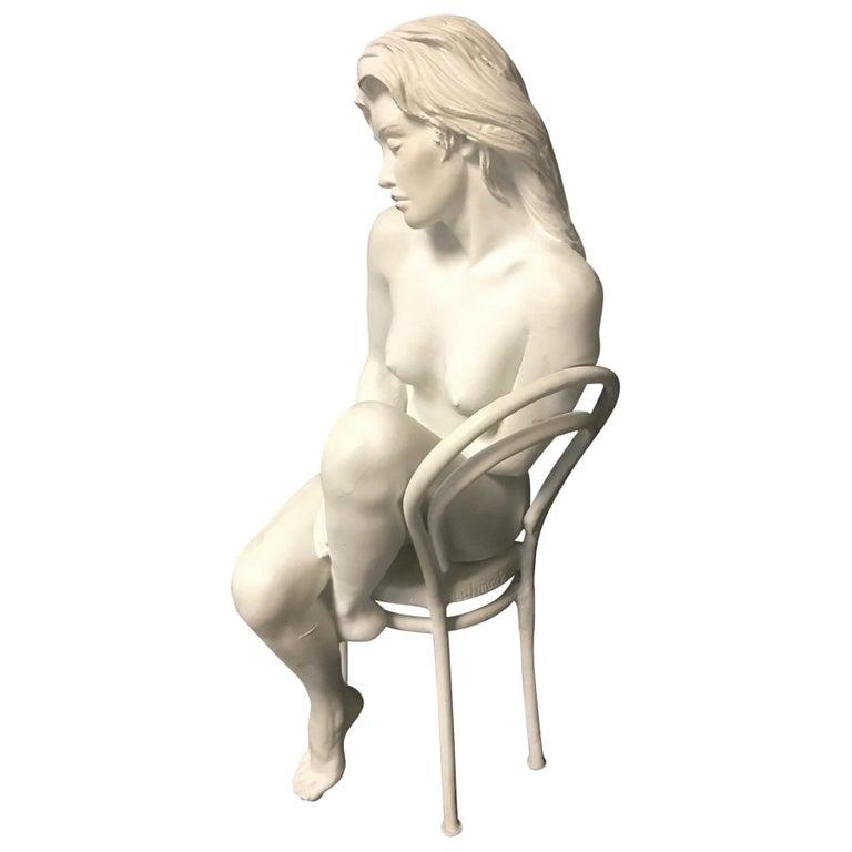 Contemporary Bronze of Nude, 'Solitude', Bill Mack For Sale