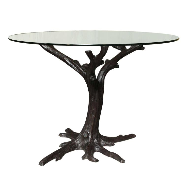 Contemporary Bronze Tree Trunk Dining Table Base Or Sculpture At 1stdibs