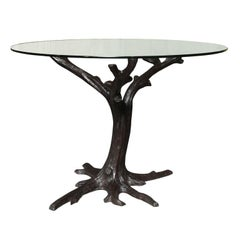 Contemporary Bronze Tree-Trunk Dining Table Base or Sculpture