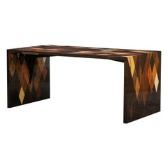 Contemporary Brown Wooden Desk by Johannes Hock 'L'