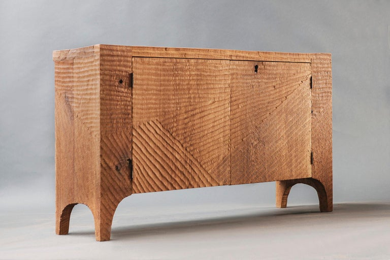 Russian Contemporary Brutalist Style Commode in Solid Oak and Linseed Oil For Sale