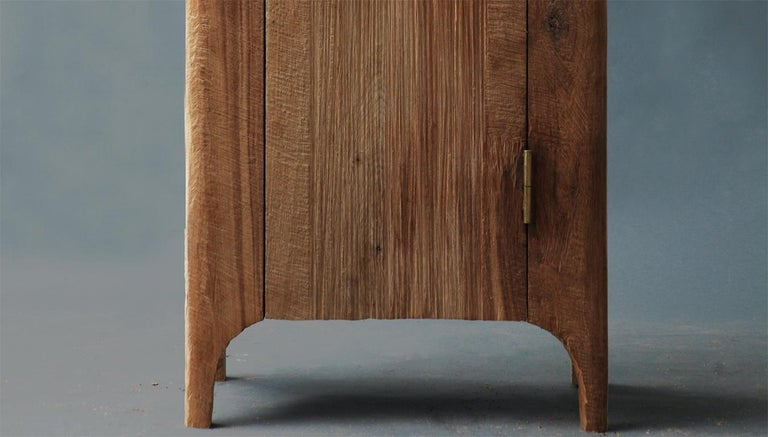 Russian Contemporary Brutalist Style Wardrobe in Solid Oak and Linseed Oil For Sale