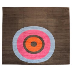 Contemporary Bullseye Modern Tibetan Rug