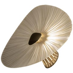 Contemporary by Ghirò Studio 'Conchiglie' Sconce Crystal,Brass,Gold Medium Size