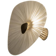 Contemporary by Ghirò Studio 'Conchiglie' Sconce Crystal Brass and Gold Big Size