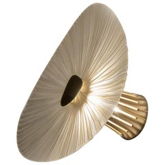 Contemporary by Ghirò Studio 'Conchiglie' Sconce Crystal, Brass, Gold Small Size