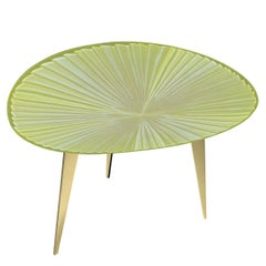 Contemporary by Ghirò Studio 'Fluo' Coffee Table Iridescent Yellow Crystal