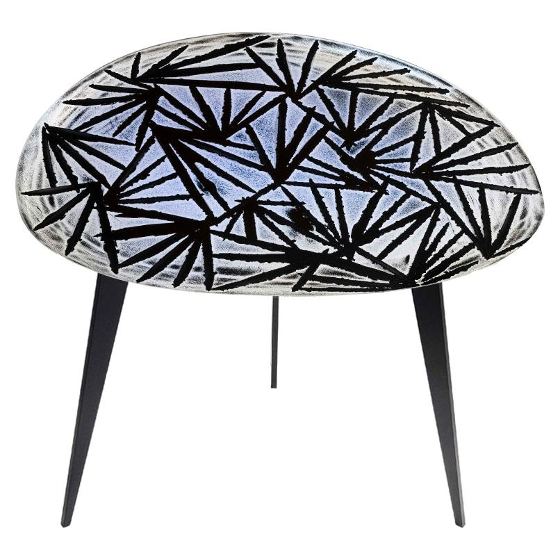 Contemporary by Ghirò Studio 'Monten' Coffee Table Iridescent Crystal and Brass