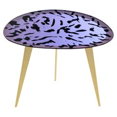Contemporary by Ghirò Studio 'Puà' Coffee Table Pink Crystal and Polished Brass
