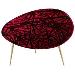 Contemporary by Ghirò Studio 'Rubino' Coffee Table Crystal and Brass Medium Size