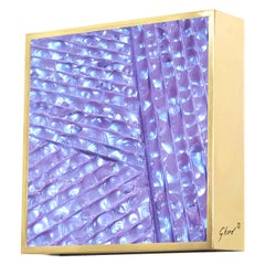 Contemporary by Ghirò Studio 'Square' Sconce Iridescent Blue and Purple Crystal