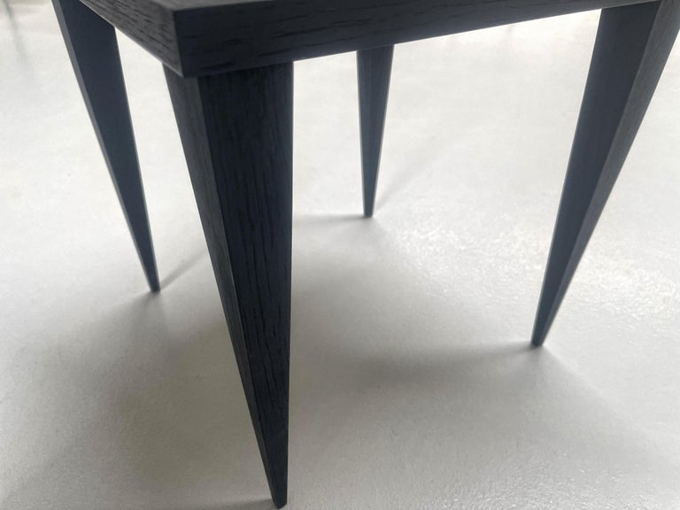 Contemporary by Ghirò Studio 'Square' Table Blue Crystal and Oak Wood Handmade In New Condition For Sale In Pieve Emanuele, Milano