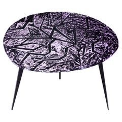 Contemporary by Ghirò Studio 'Zig-Zag' Coffee Table Amethyst Crystal and Brass