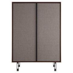Contemporary by Lucarelli e Rapisarda Cabinet Wood Veneer Cabinet Wood Steel