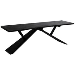 Contemporary by Mircea Anghel Desk Console Table Burnt Wood Black