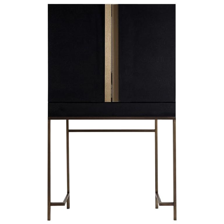 Contemporary by Studio Oxi Dresser Cabinet Wood Dressing Cabinet Mirror Steel