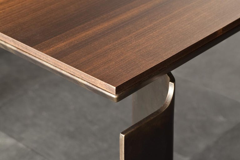 Contemporary by Studio Oxi Table Wood Veneer Table Wood Steel In New Condition For Sale In Sacile, IT