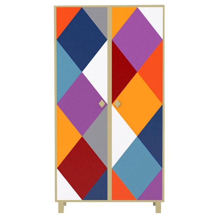 Contemporary Camicia Cabinet in Aluminium by Altreforme For Sale