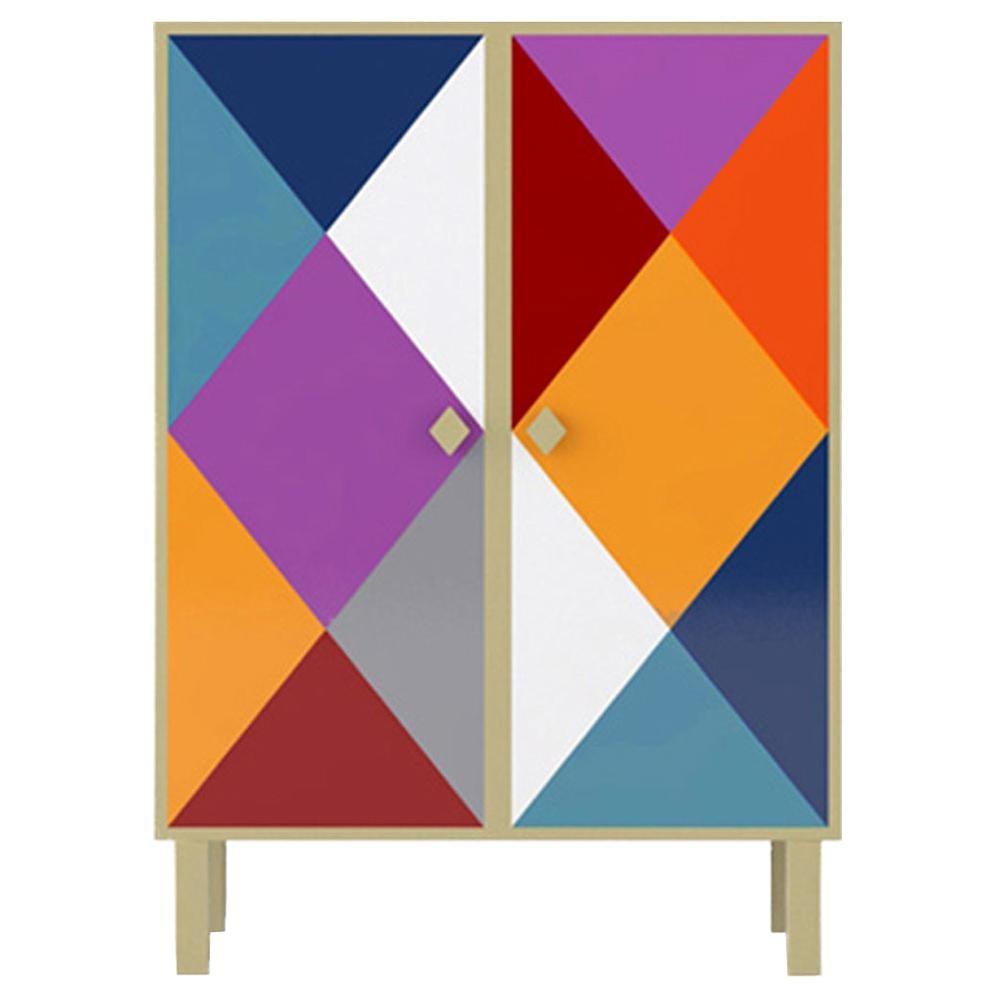 Contemporary Camicia Corta Cabinet in Aluminium by Altreforme