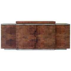 Contemporary Canaletto Walnut Buffet with Storage System