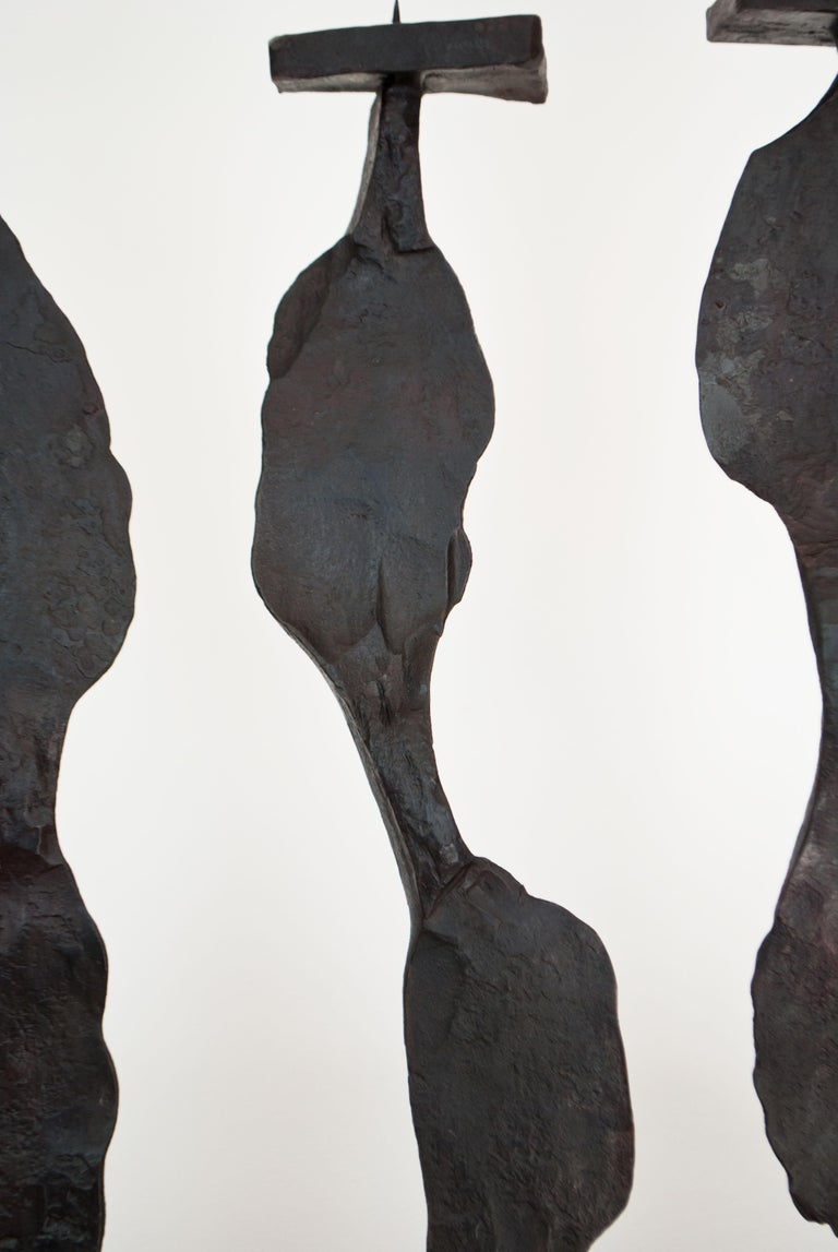 Steel Contemporary Candleholder Inspired by A. Giacometti For Sale