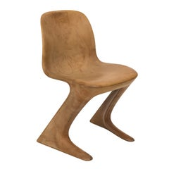 Contemporary Cantilever Kangaroo Chair in the Manner of Ernst Moeckl