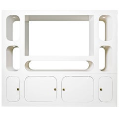 Contemporary Carosello TV Stand or Media Cabinet in Aluminium