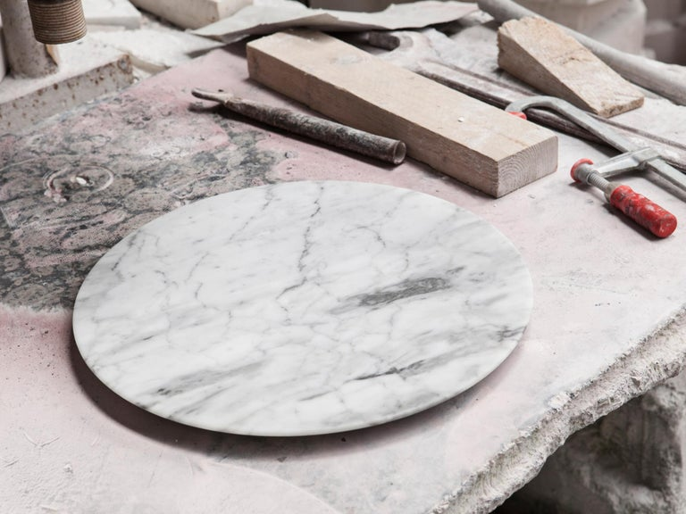 Other Contemporary Carrara Marble Tray For Sale