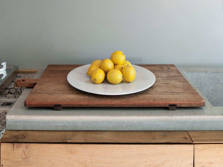 Italian Contemporary Carrara Marble Tray For Sale