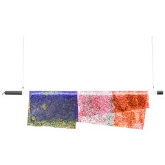Contemporary Ceiling Lamp 'Particle' by Kueng Caputo, Blue, Pink and Red