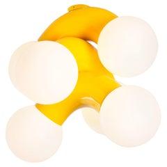 Contemporary Ceiling Lamp VINE 3-C, Yellow