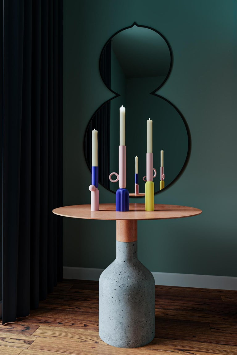 Modern Contemporary Ceramic Candleholder For Sale