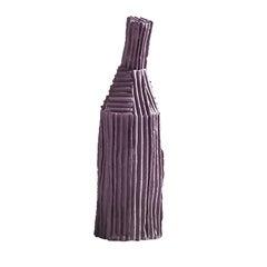 Zeitgenössische Keramik Cartocci Flieder dekorative Flasche Corteccia Textur