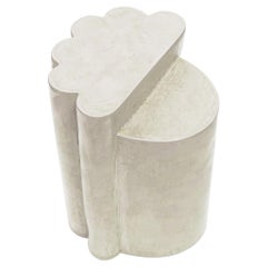 Contemporary Ceramic Cream Ledge Side Table