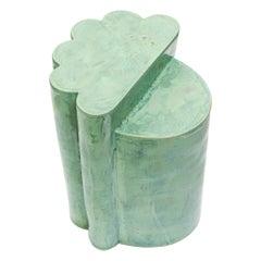 Contemporary Ceramic Jade Ledge Side Table