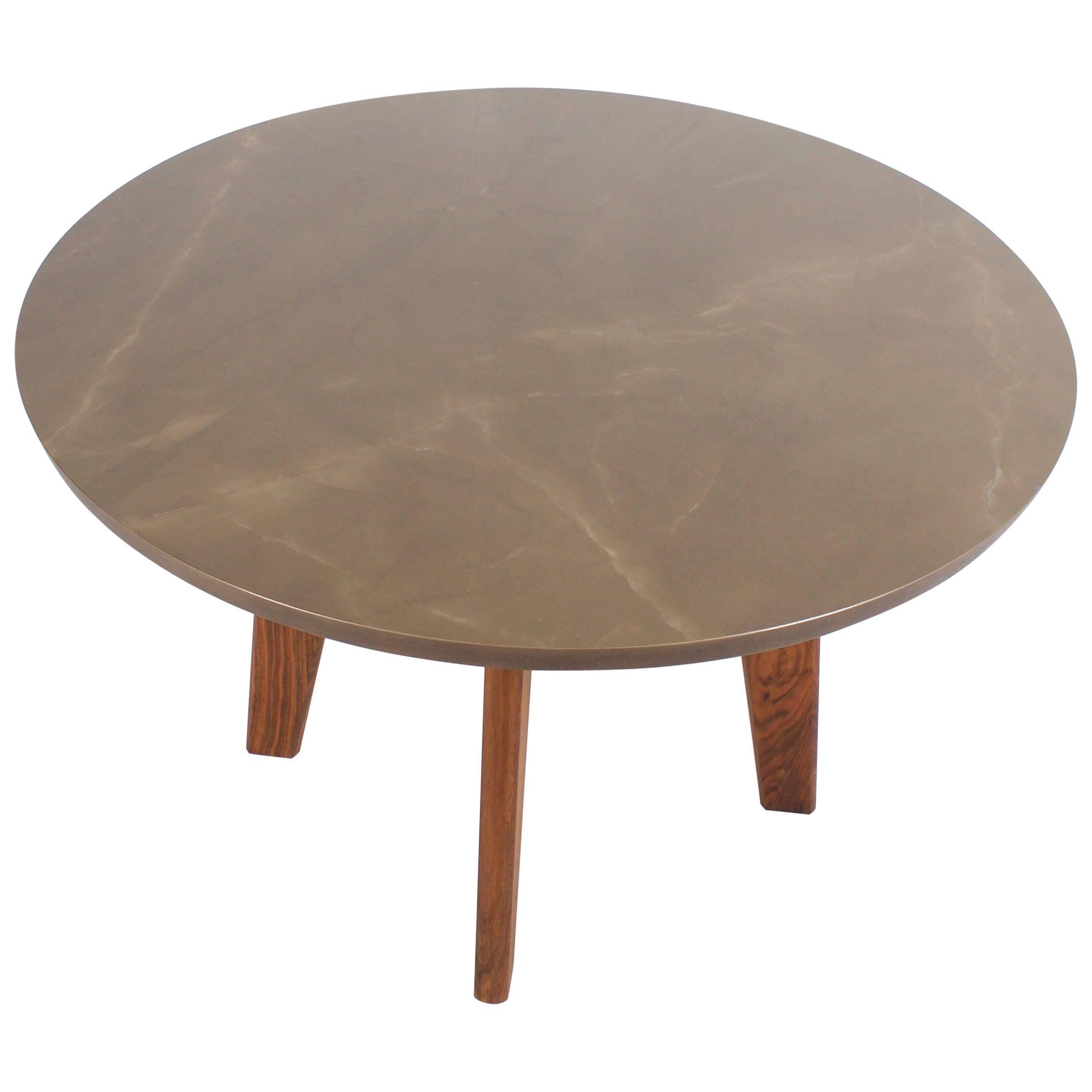 Contemporary Ceramic Round Dining Table
