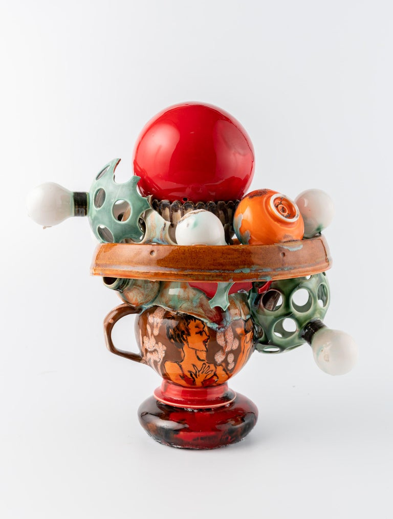 Extraordinary Ceramic Sculpture by Israel Sofia For Sale 2