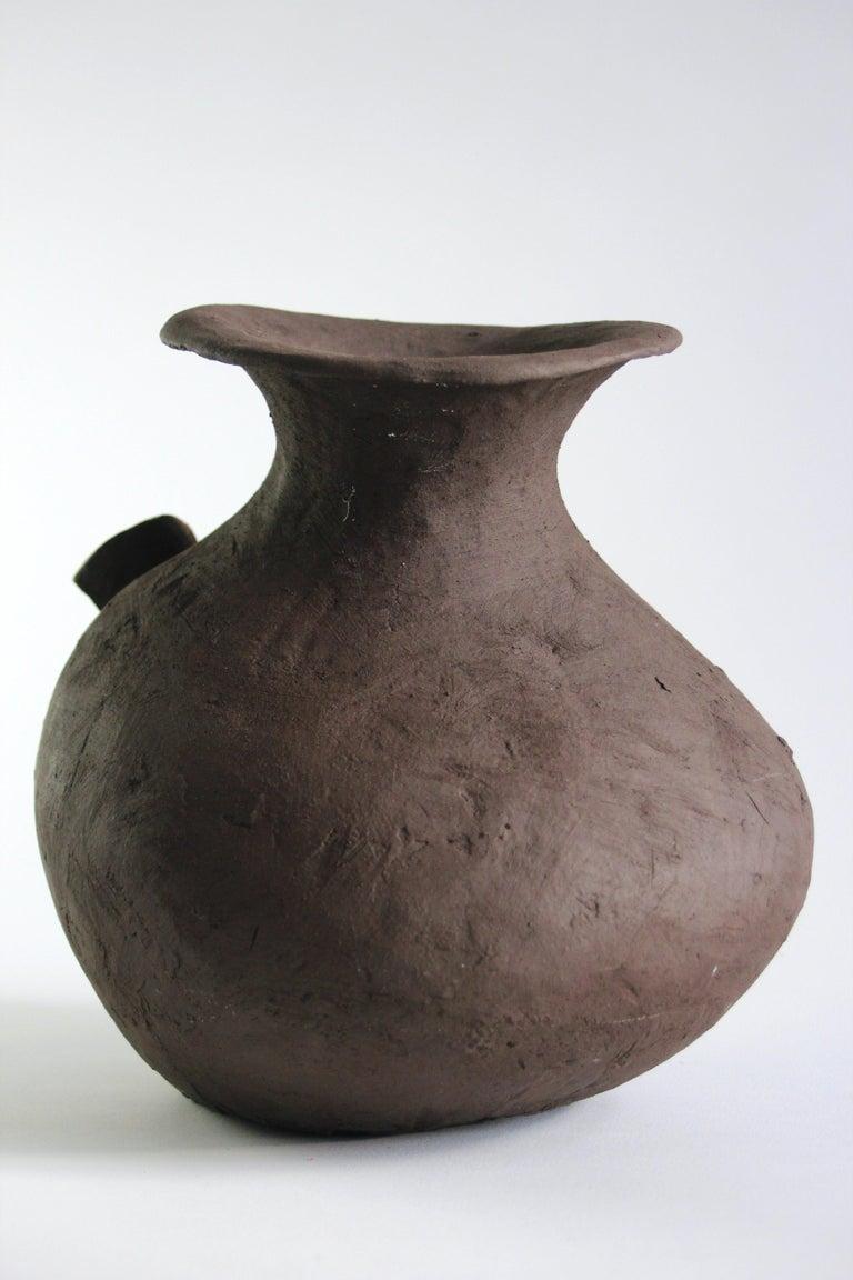 Hand-Crafted Contemporary Ceramic Vase with Cartoon Font, Designer Teemu Salonen, Finland For Sale