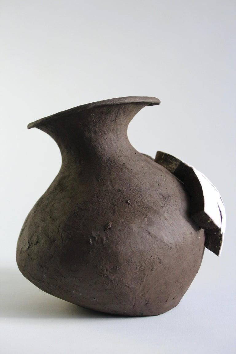 Contemporary Ceramic Vase with Cartoon Font, Designer Teemu Salonen, Finland In New Condition For Sale In Auttoinen, FI