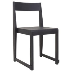 Contemporary Chair 01 Ash Black Frame/ Ash Black Wood Seat