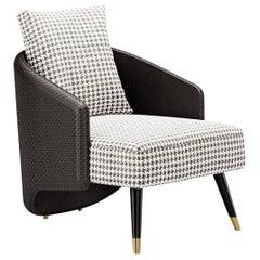 Contemporary Chair by Fabio Arcaini Settee Fabric Leather Nabuk