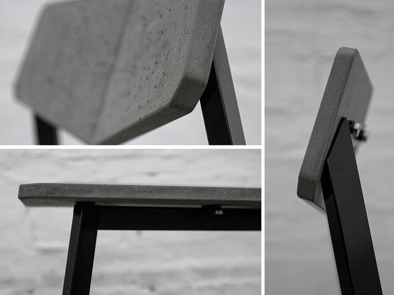 Chinese Contemporary Chair 'H' Made of Concrete and Aluminum For Sale