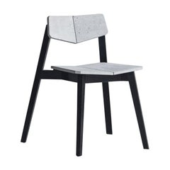 Contemporary Chair 'H' Made of Concrete and Aluminum