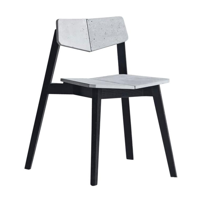 Contemporary Chair 'H' Made of Concrete and Aluminum For Sale