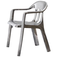 Contemporary Chair in Cast Aluminum